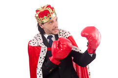King businessman in funny concept isolated Royalty Free Stock Image