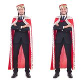 The king businessman isolated on white Stock Image