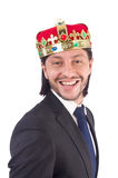 King businessman isolated Stock Image