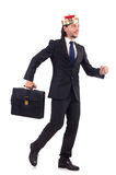 King businessman isolated Stock Photography