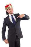King businessman isolated Stock Photo