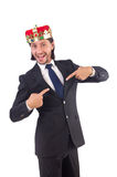 King businessman isolated Stock Images