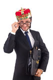 King businessman isolated Royalty Free Stock Images
