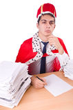 King businessman with lots Stock Images