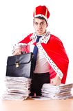 King businessman with lots Royalty Free Stock Photos