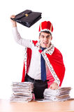 King businessman with lots Stock Photos