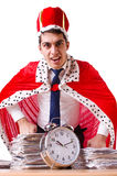 King businessman with lots Stock Photo