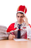 King businessman with lots Stock Image