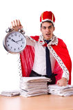 King businessman with lots Royalty Free Stock Photo