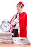 King businessman with lots Royalty Free Stock Images