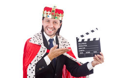 King businessman with movie board Stock Photo