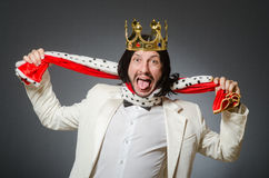 The king businessman in royal business concept Royalty Free Stock Images