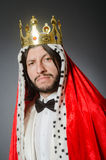 The king businessman in royal business concept Stock Images