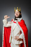 The king businessman in royal business concept Royalty Free Stock Image