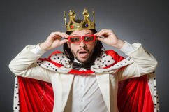 The king businessman in royal business concept Stock Photography