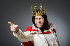 The king businessman in royal business concept Stock Photos
