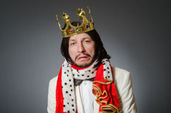 The king businessman in royal business concept Royalty Free Stock Photo