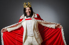 The king businessman in royal business concept Royalty Free Stock Photos