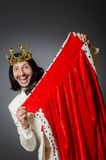 The king businessman in royal business concept. King businessman in royal business concept Stock Image