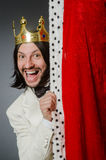 The king businessman in royal business concept Stock Photo