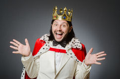 King businessman in royal business concept Stock Image