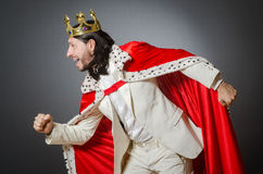 King businessman in royal business concept Stock Images