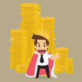 King of businessman Royalty Free Stock Images