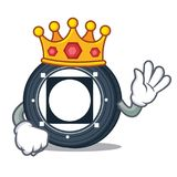 King Byteball Bytes coin mascot cartoon. Vector illustration Stock Photography