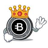 King Bytecoin coin mascot cartoon. Vector illustration Royalty Free Stock Photo