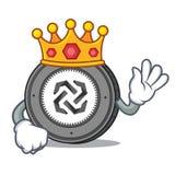 King Bytom coin mascot cartoon. Vector illustration Stock Photo