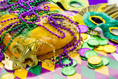 King cake royalty free stock photography