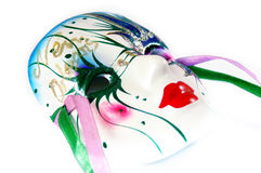 King Cake Mask. A glass mask from a traditional Mardis Gras King Cake in New Orleans, Louisiana Stock Photography
