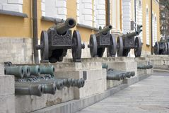 King Cannon in Moscow Kremlin. Color photo. Royalty Free Stock Images