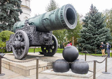King cannon in moscow kremlin Royalty Free Stock Photos
