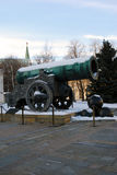 The King Cannon in Moscow Kremlin. Three cannon balls. Royalty Free Stock Images
