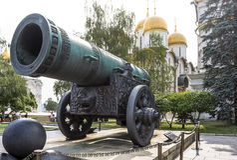 King Cannon (Tsar Pushka) in Moscow Kremlin Stock Photo