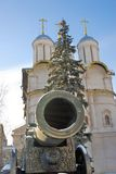 King Cannon and Twelve Apostles church in Moscow Kremlin. Royalty Free Stock Image