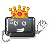 King capslock button isolated with the cartoon. Vector illustration royalty free illustration