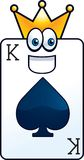 King Card Royalty Free Stock Photography