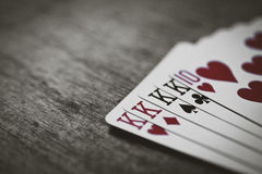 King card Four of a kind isolate Royalty Free Stock Images