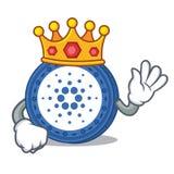 King Cardano coin character cartoon. Vector illustration Stock Photo