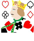 King of Cards Royalty Free Stock Image