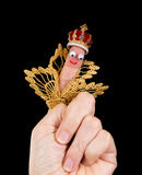 King caricature puppet stock photography