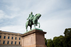 King Carl XIV Johan Statue Royalty Free Stock Image