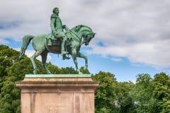 King Carl XIV Johan Statue royalty free stock image