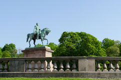 King Carl XIV Johan Statue in Oslo Royalty Free Stock Image
