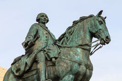 King Carlos III equestrian statue, Madrid, Spa Stock Images