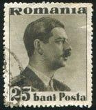 King Carol. ROMANIA - CIRCA 1935: stamp printed by Romania, show King Carol, circa 1935 royalty free stock photo