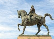 King Carol I on horse statue Royalty Free Stock Photos
