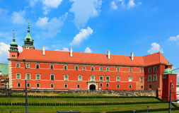 King castle. In Warsaw old town stock image